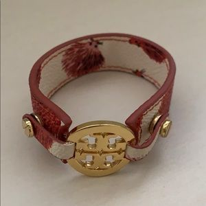 Authentic Tory Burch Hedgehog leather bracelet